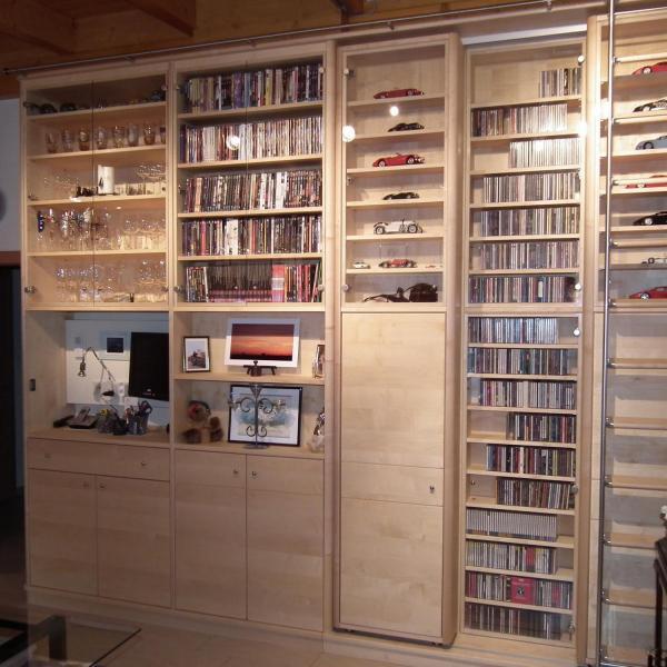 Produkte nat rliches wohnen mit der tischlerei semotan - Bibliothek wohnzimmer ...